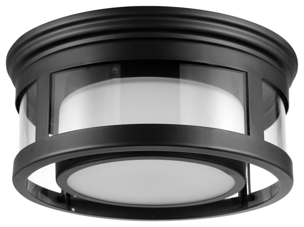 Brisbane 1 Light Matte Black Outdoor/indoor Flush Mount With Regard To Recent Whisnant Black Integrated Led Frosted Glass Outdoor Flush Mount (View 10 of 20)