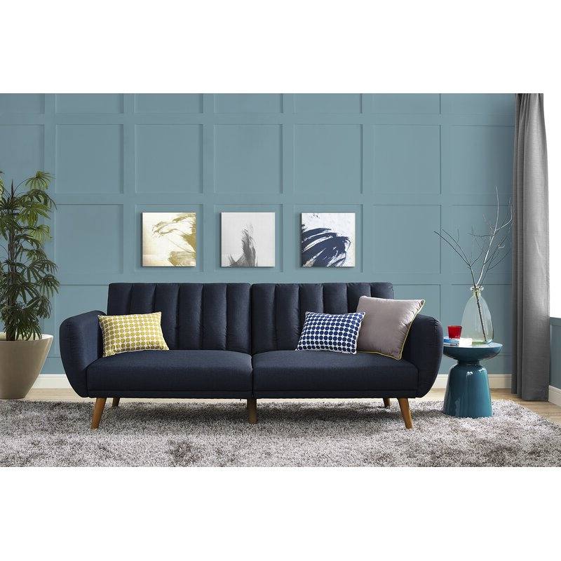 Brittany Sectional Futon Sofas Throughout Latest Novogratz Brittany Convertible Sofa & Reviews (View 13 of 20)