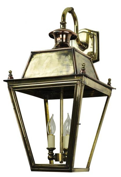 Brookland Outdoor Wall Lanterns Regarding Best And Newest Balmoral Large Brass 3 Light Victorian Downward Outdoor (View 7 of 20)