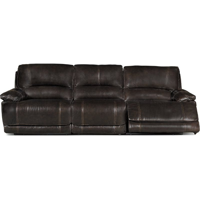 Brown 3 Piece Manual Triple Reclining Sofa – Brant Pertaining To Recent Charleston Triple Power Reclining Sofas (View 13 of 20)