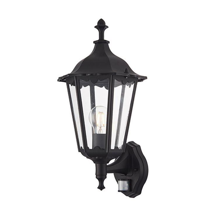Burford 1 Light Outdoor Wall Lantern & Pir Black For Most Popular Keiki Matte Black Outdoor Wall Lanterns (View 9 of 20)