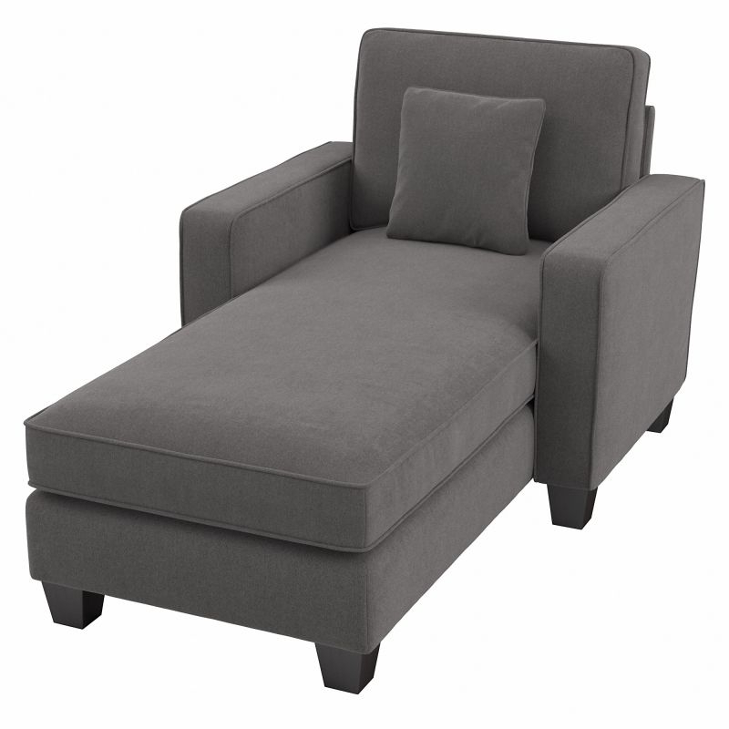"""Bush Furniture Stockton Storage Ottoman In French Gray Throughout Trendy 102"""" Stockton Sectional Couches With Reversible Chaise Lounge Herringbone Fabric (View 18 of 20)"""