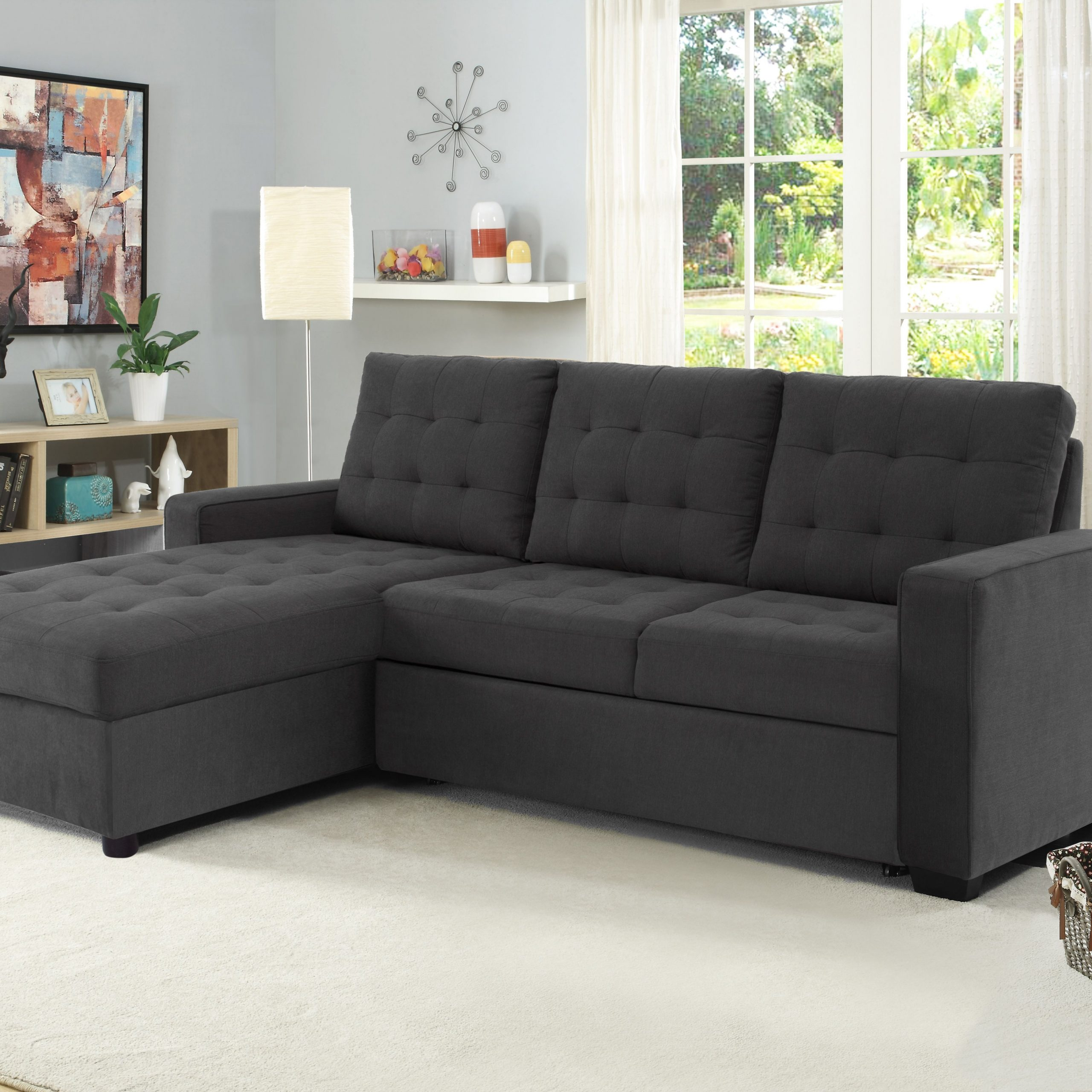 Buy Serta Bostal Sectional Sofa Convertible: Converts Into For Well Liked Live It Cozy Sectional Sofa Beds With Storage (View 2 of 20)