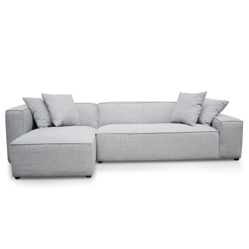 Calvin Concrete Gray Sofas Pertaining To Most Recently Released Jason 2 Seater Right Chaise Sofa – Cement Grey – Moorabbin (View 8 of 20)