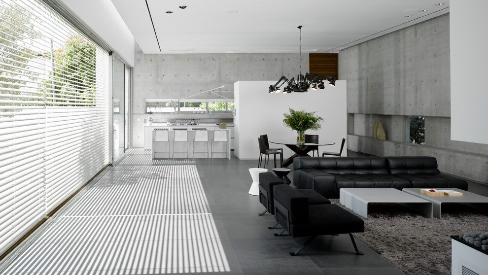 Calvin Concrete Gray Sofas With Regard To Current Israel Gray Leather Sectional Sofas Living Room Modern (View 14 of 20)
