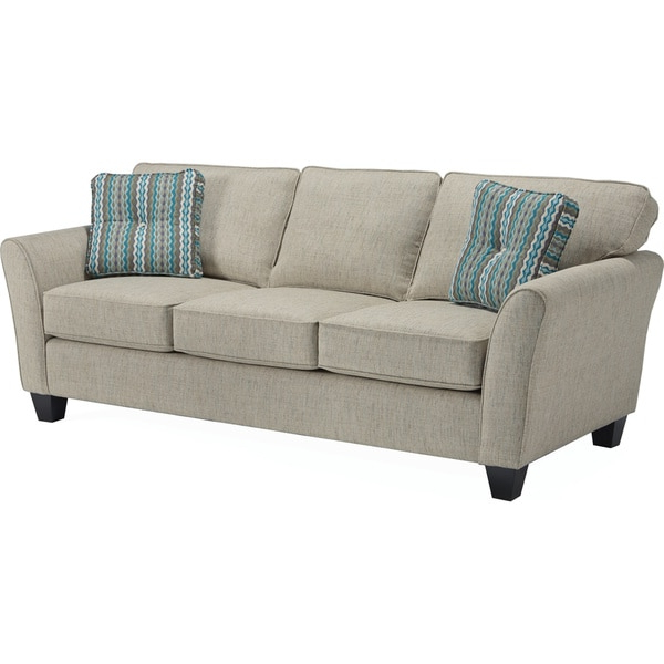 Camila Poly Blend Sectional Sofas Off White Throughout Best And Newest Broyhill Maddie Sofa – Overstock –  (View 4 of 20)