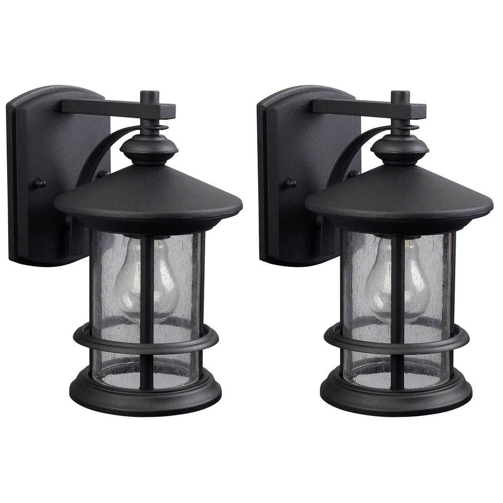 Canarm Ryder 1 Light Black Outdoor Wall Lantern With Pertaining To Most Current Chicopee 2 – Bulb Glass Outdoor Wall Lanterns (View 7 of 20)
