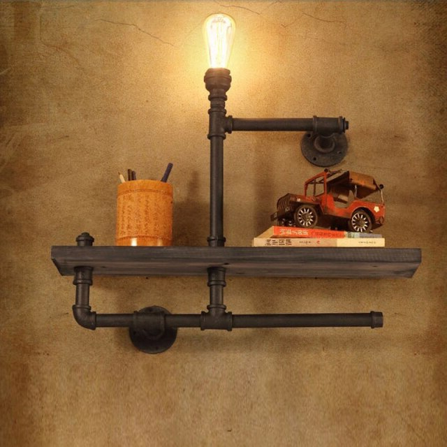 Cano Wall Lanterns Inside Trendy Vintage Industrial Style E27 Edison Bulb Wall Lamp With (View 10 of 20)