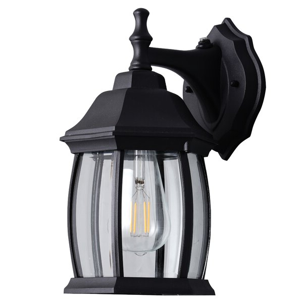 Canora Grey Cowart Matte Black 2 – Bulb 12.2'' H For Best And Newest Black  (View 17 of 20)