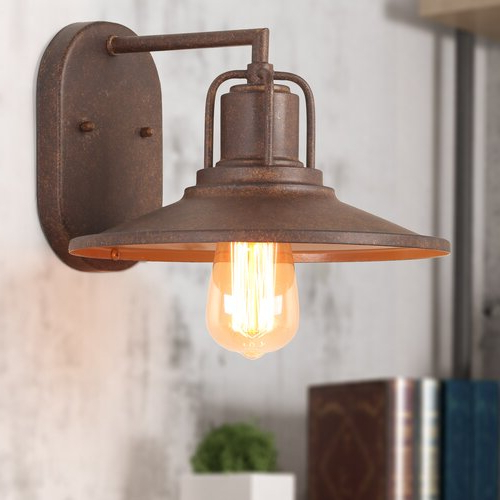 Cantrall 2 – Bulb Outdoor Armed Sconces With Regard To Best And Newest Williston Forge Lilyanna 1 Light Dimmable Rust Armed (View 12 of 20)