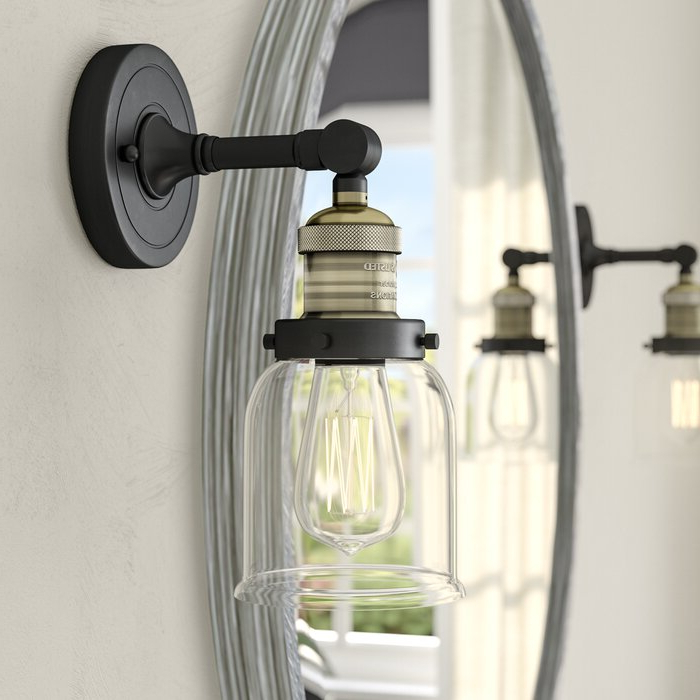 Cantrall 8'' H Outdoor Armed Sconces For Most Popular Williston Forge Elkhorn Heavy Duty 1 Light Armed Sconce (View 14 of 20)