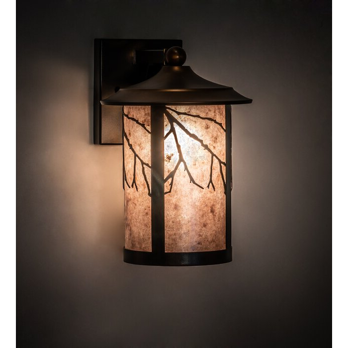 Cantrall 8'' H Outdoor Armed Sconces Inside Fashionable Meyda Tiffany 1 – Light Dimmable Bronze Armed Sconce (View 20 of 20)