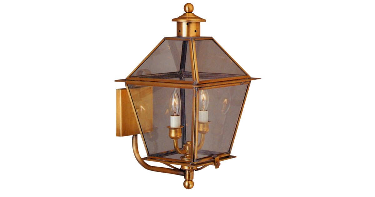 Carolina Colonial Copper Lantern Outdoor Wall Light Made In Most Recently Released Caroline Outdoor Wall Lanterns (View 7 of 20)