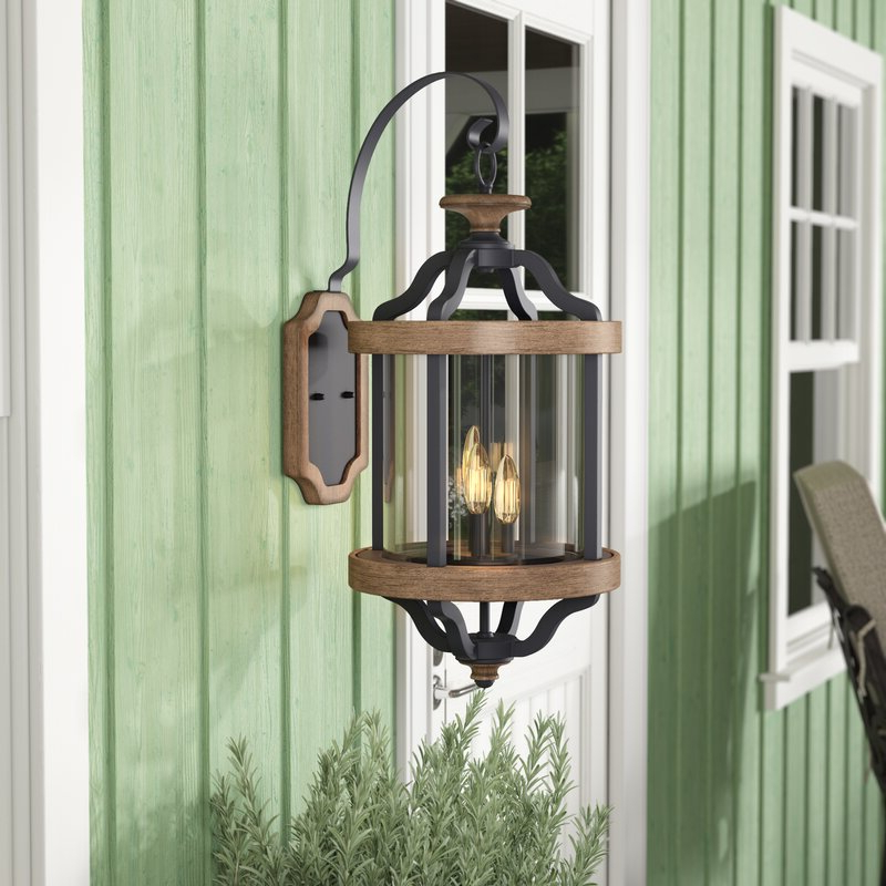 Caroline Outdoor Wall Lanterns Intended For Most Recent Laurel Foundry Modern Farmhouse Elisabetta 3 Light Outdoor (View 15 of 20)