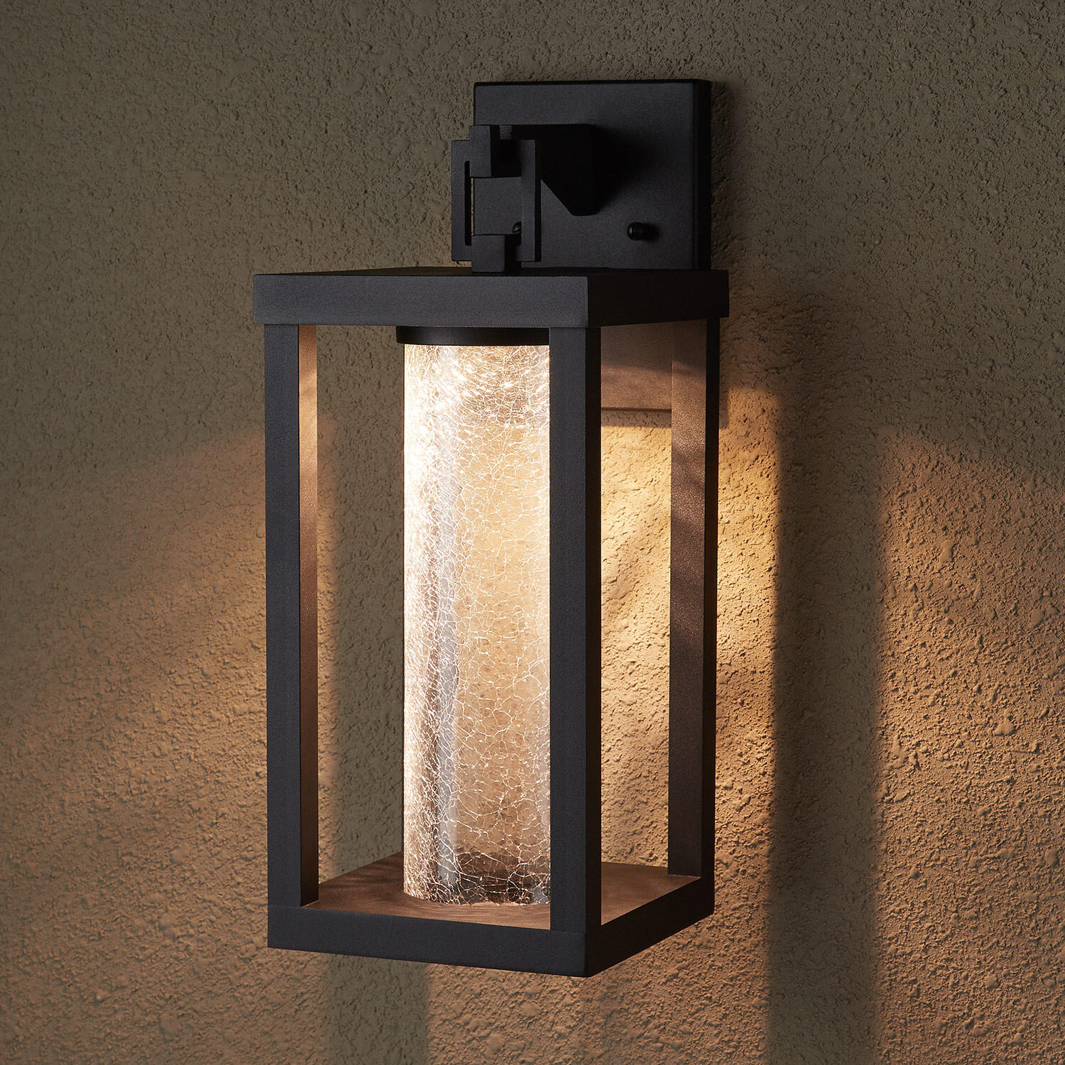 Castellanos Black Outdoor Wall Lanterns With Regard To Popular Topping Outdoor Entrance Wall Sconce – Single Led Light (View 19 of 20)