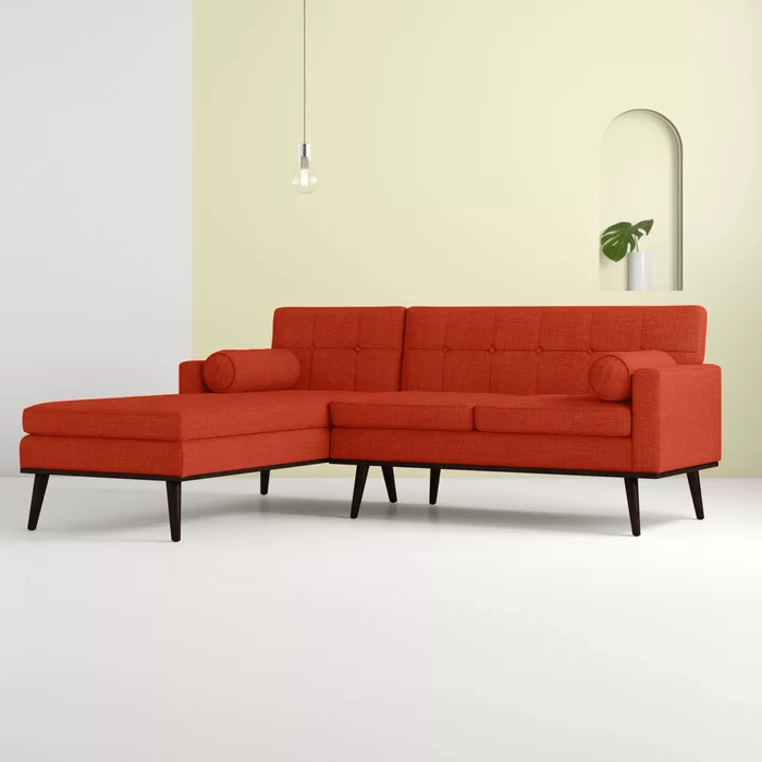 """Catalina 55"""" Wide Right Hand Facing Modular Sofa & Chaise Throughout Most Recently Released Somerset Velvet Mid Century Modern Right Sectional Sofas (View 9 of 20)"""