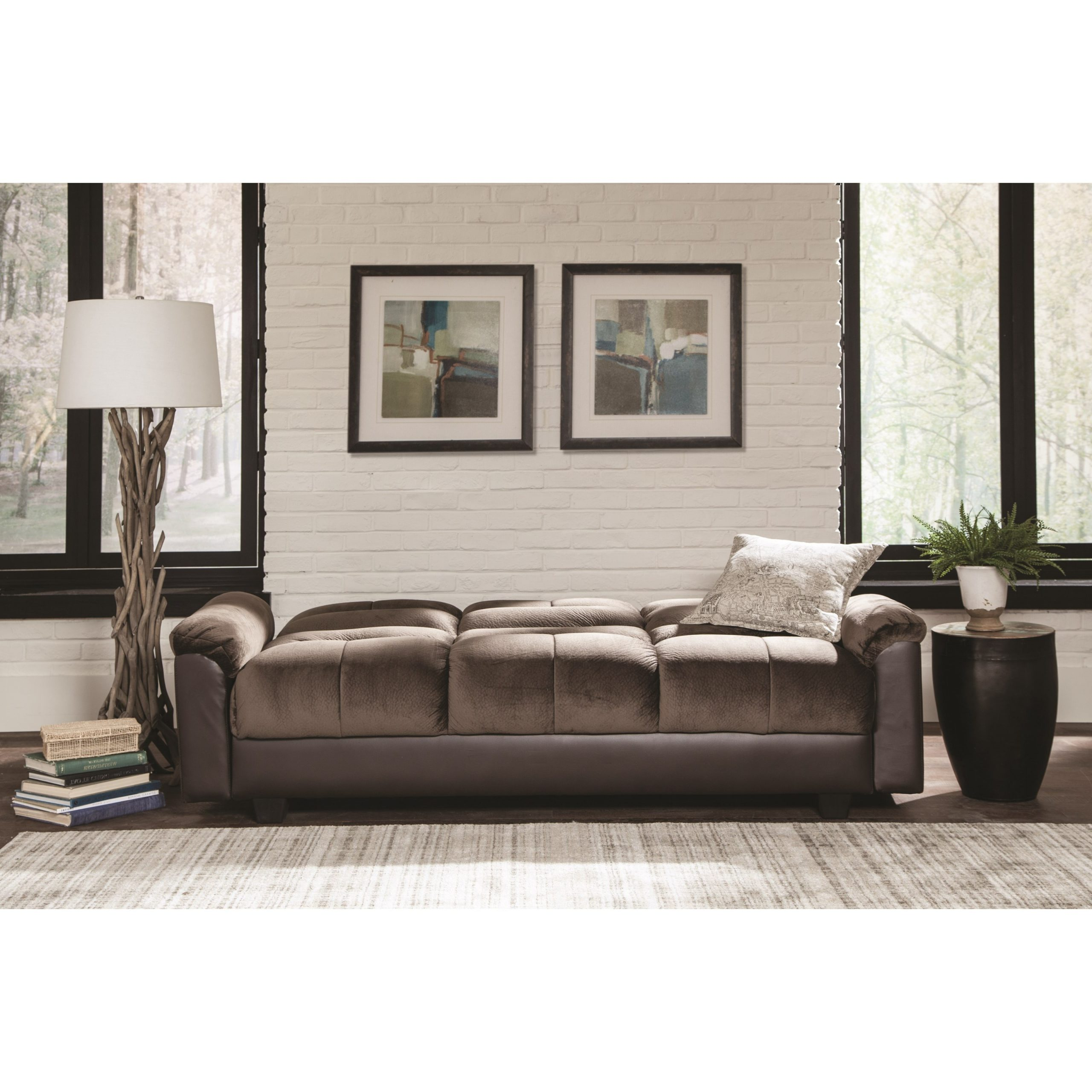 Celine Sectional Futon Sofas With Storage Reclining Couch Throughout Well Known Sofa Beds And Futons Two Tone Sofa Bed With Storage (View 15 of 20)