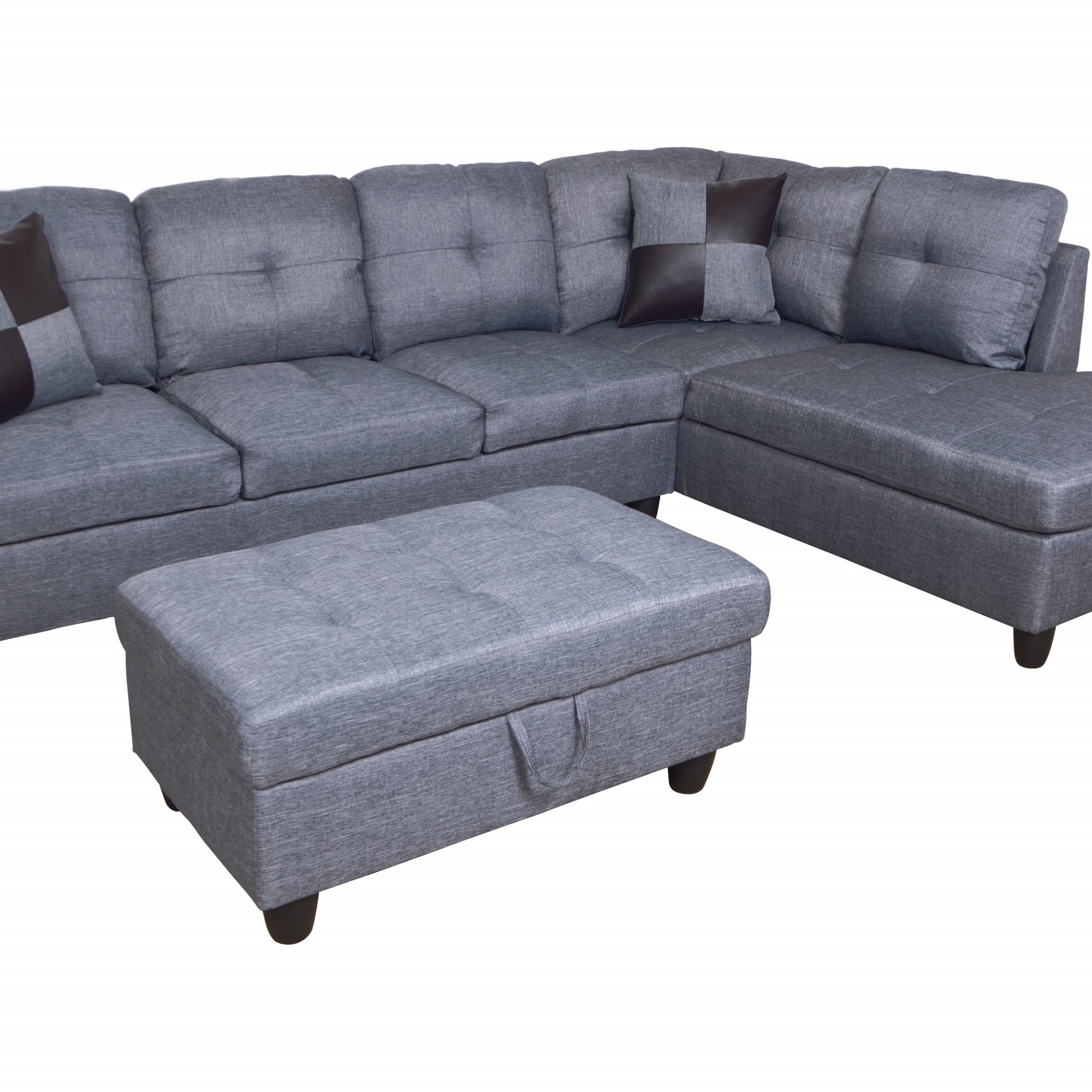 Celine Sectional Futon Sofas With Storage Reclining Couch With Preferred Hermann Left Chaise Sectional Sofa With Storage Ottoman (View 2 of 20)