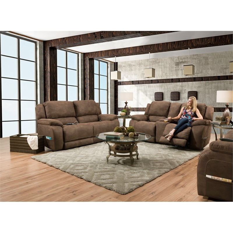 Charleston Triple Power Reclining Sofas For Most Up To Date Murray Triple Power Sofa Recliner In Espresso Brown Fabric (View 16 of 20)