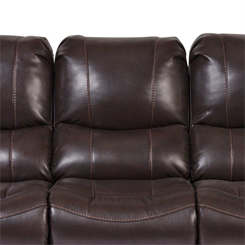 Charleston Triple Power Reclining Sofas Intended For Well Known Ramsey Transitional Triple Power Recliner Sofa – Brown (View 12 of 20)
