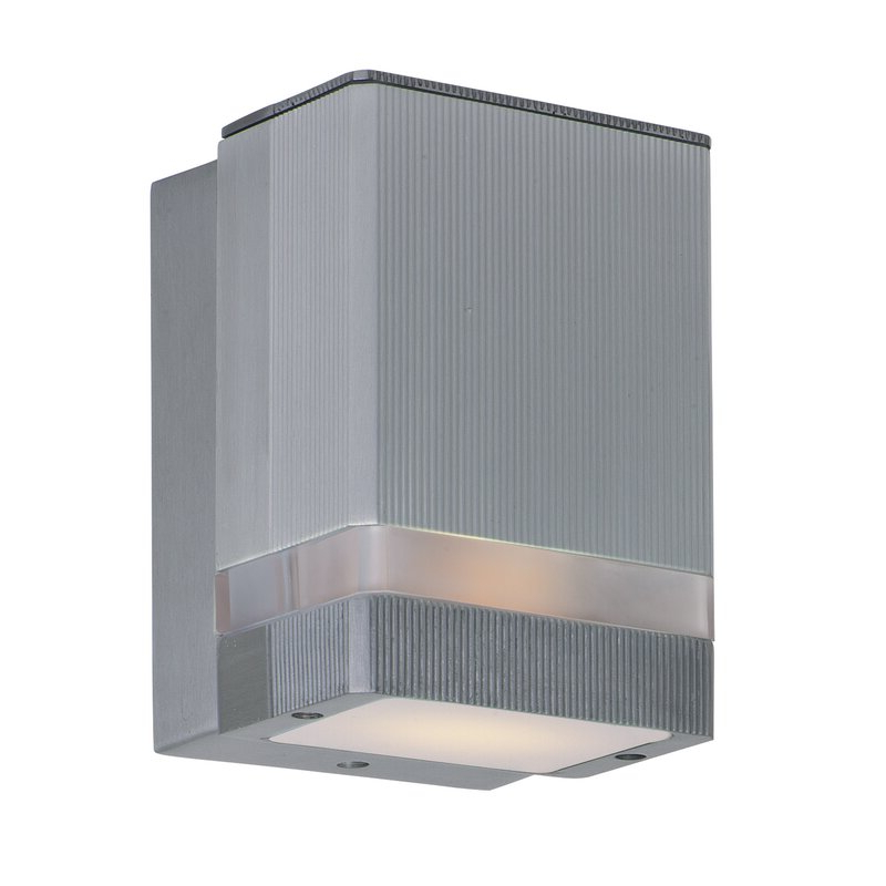Chazz Integrated Led Outdoor Armed Sconces Pertaining To Famous Latitude Run® Terron Integrated Led Glass Outdoor Armed (View 18 of 20)