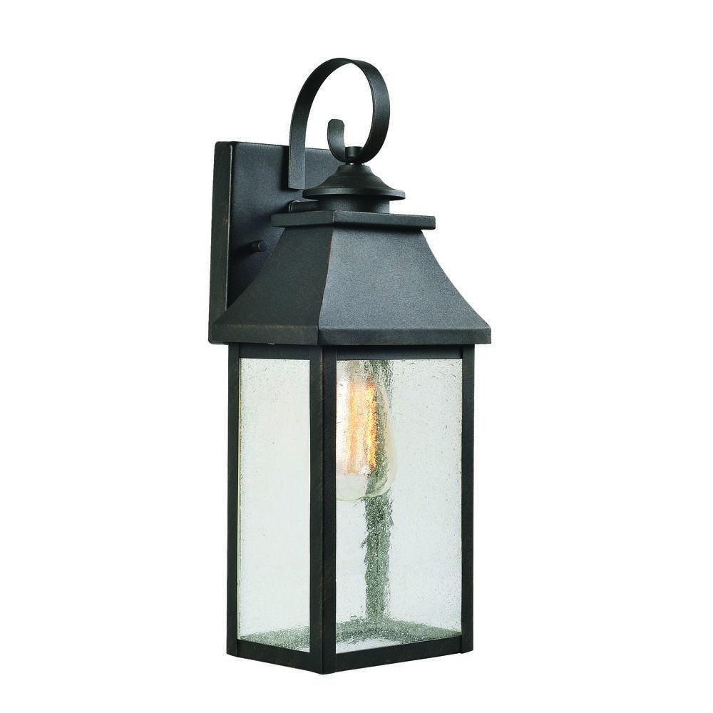 Cherryville Black Seeded Glass Outdoor Wall Lanterns With Favorite Seeded Glass Outdoor Wall Light Black With Gold Highlights (View 19 of 20)