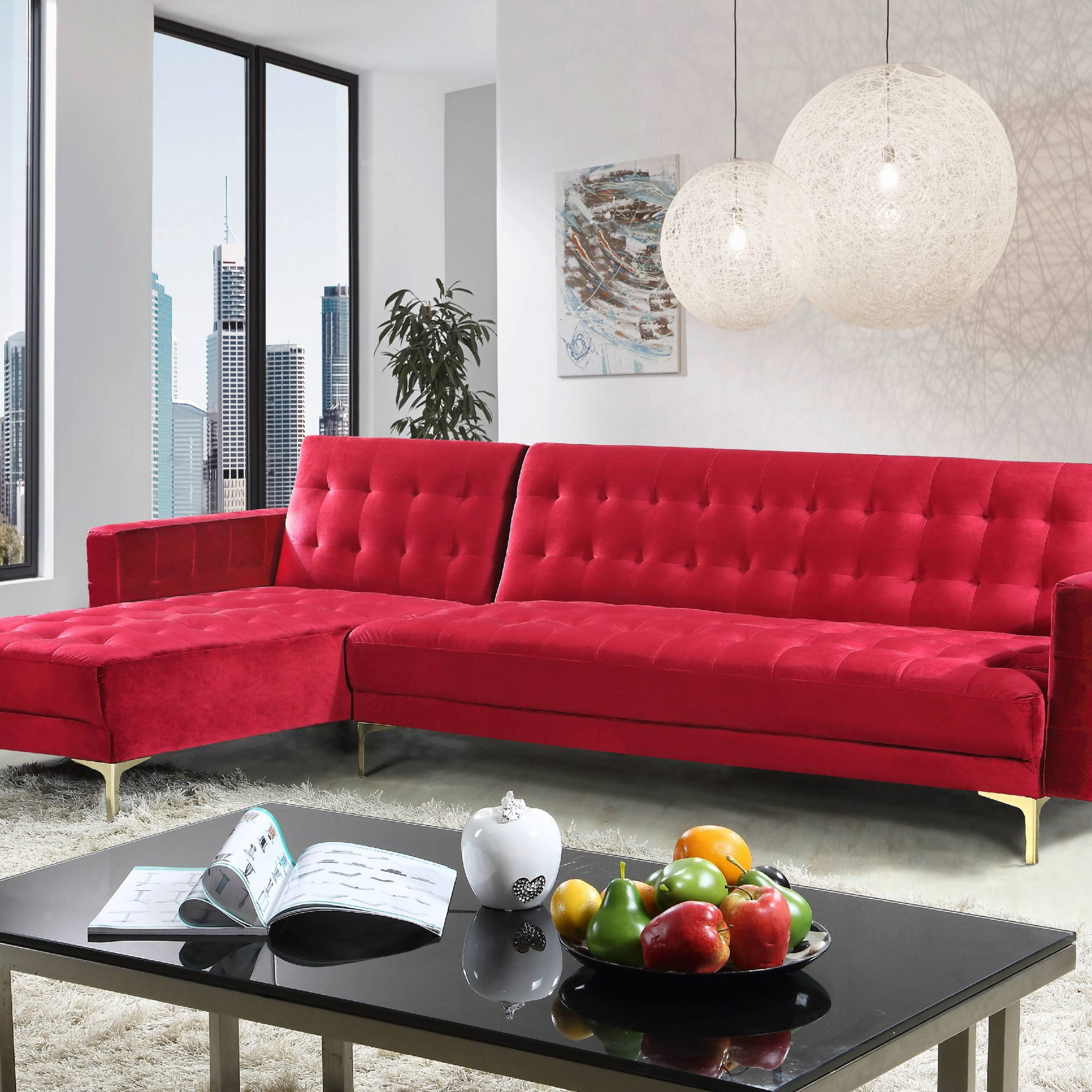 Chic Home Kiefer Velvet Right Facing Convertible Sectional Pertaining To Well Liked Monet Right Facing Sectional Sofas (View 5 of 20)