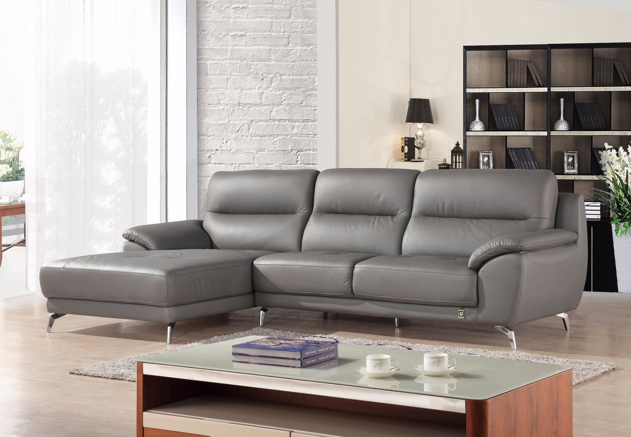 China European Modern Big L Shape Sectional Leather Sofa Inside 2018 Owego L Shaped Sectional Sofas (View 2 of 20)