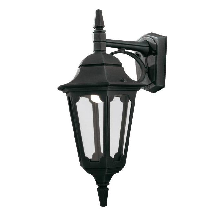 Ciotti Black Outdoor Wall Lanterns Inside Most Popular Elstead Parish 1 Light Downward Outdoor Wall Lantern Black (View 11 of 20)