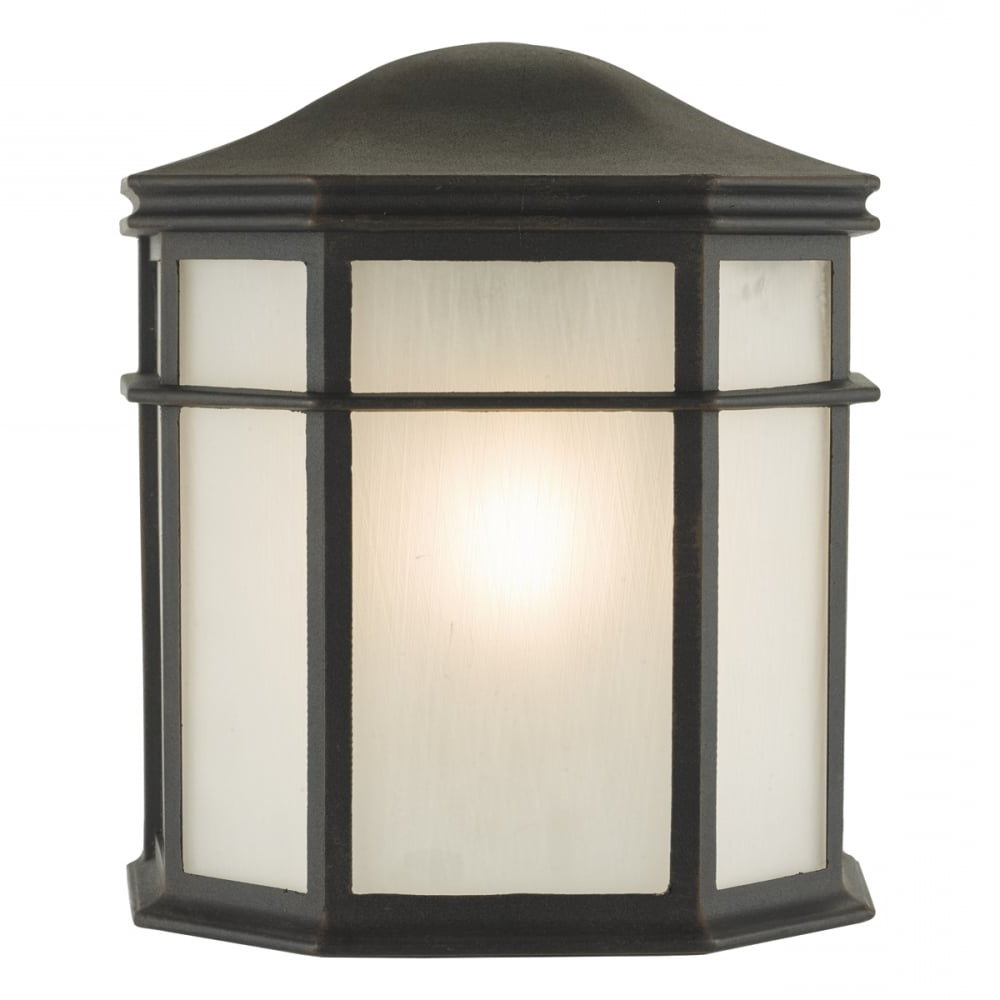 Ciotti Black Outdoor Wall Lanterns Throughout Fashionable Dar Lighting Dulbecco Single Light Outdoor Wall Lantern In (View 4 of 20)