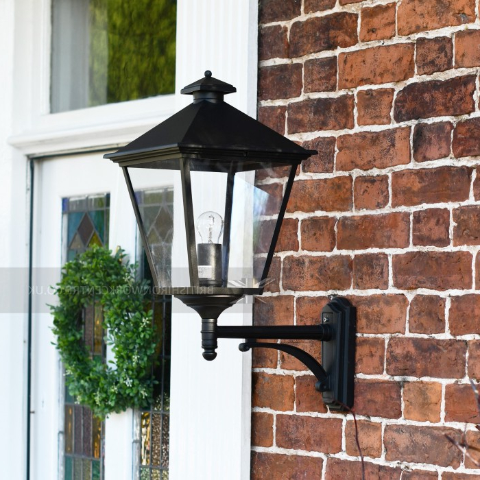 Classic Black Large Victorian Wall Lantern – Victorian Throughout Most Current Garneau Black Wall Lanterns (View 18 of 20)
