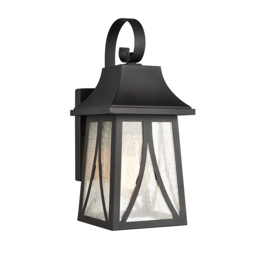 Claxy Pertaining To Cherryville Black Seeded Glass Outdoor Wall Lanterns (View 2 of 20)