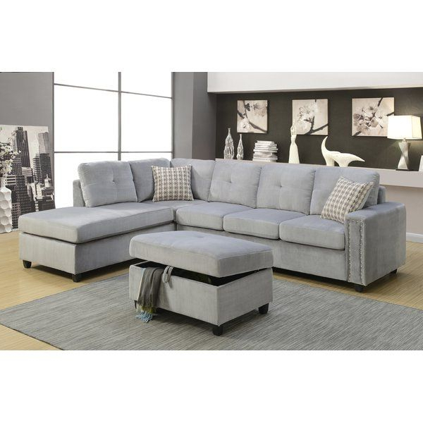 Clifton Reversible Sectional Sofas With Pillows Intended For Current The Belville Sectional Sofa Features Reversible Chaise (View 12 of 20)
