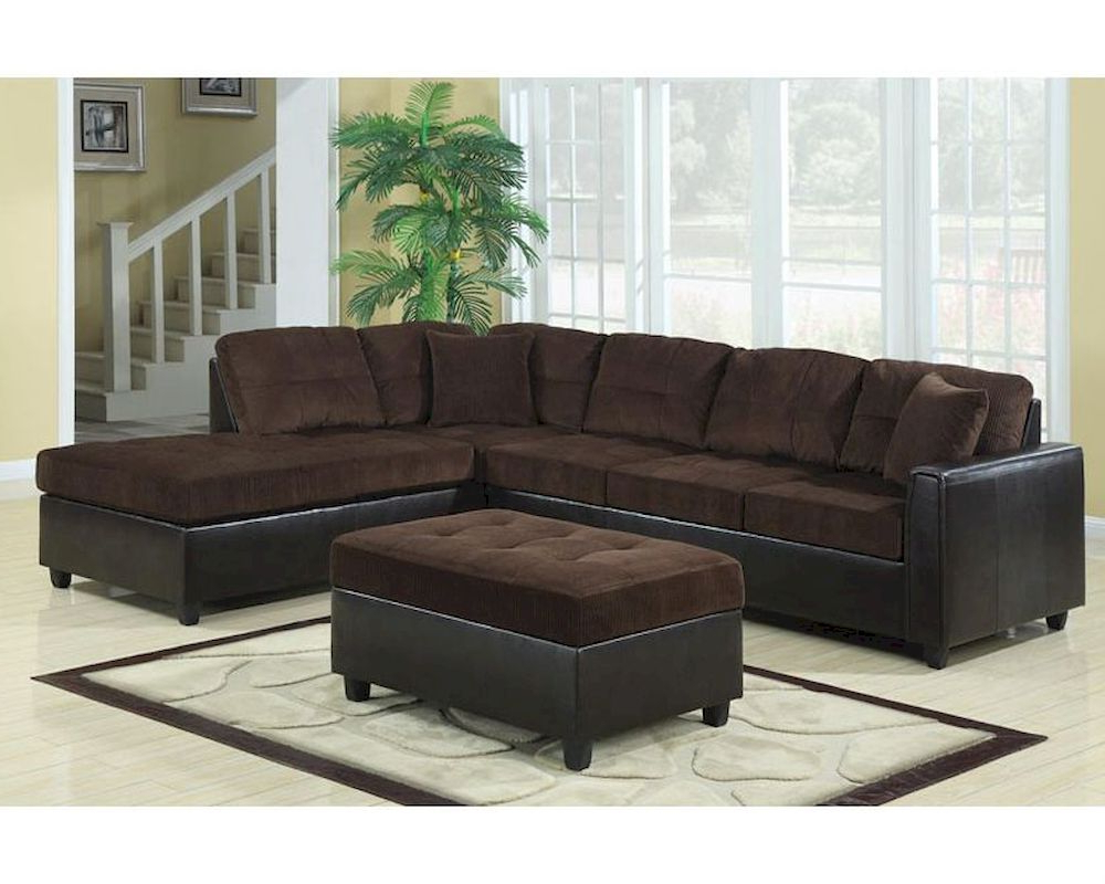 Coaster L Shape Casual Contemporary Sectional Sofa Henri Within Well Known Owego L Shaped Sectional Sofas (View 6 of 20)