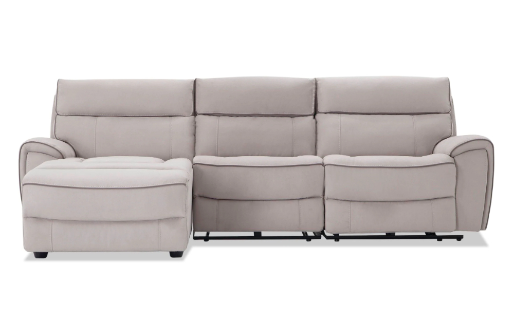 Contempo Power Reclining Sofas Regarding Well Liked Contempo 3 Piece Power Reclining Left Arm Facing Sectional (View 1 of 20)