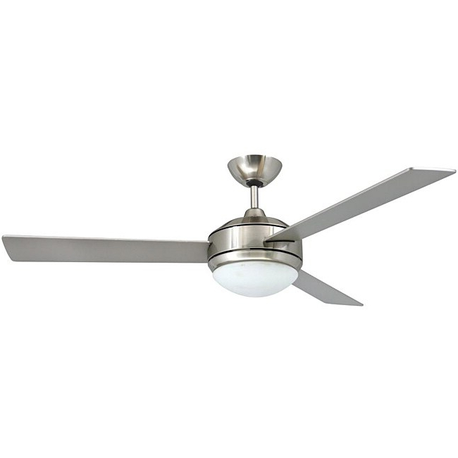 Contemporary 52 Inch Brushed Nickel 2 Light Ceiling Fan Throughout Well Known Marina Way Bronze 2 – Bulb Outdoor Barn Lights (View 18 of 20)