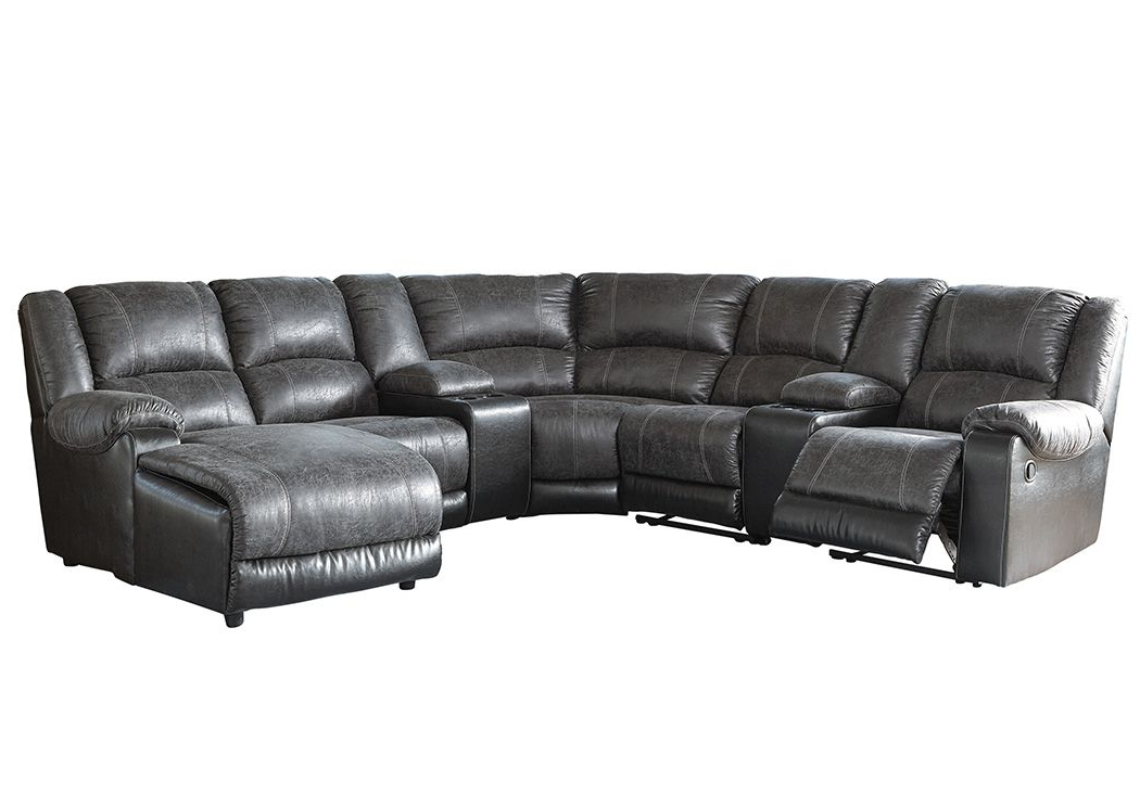 Copenhagen Reclining Sectional Sofas With Right Storage Chaise Within Favorite Nantahala Slate Right Facing Corner Chaise Sectional W/ (View 14 of 20)