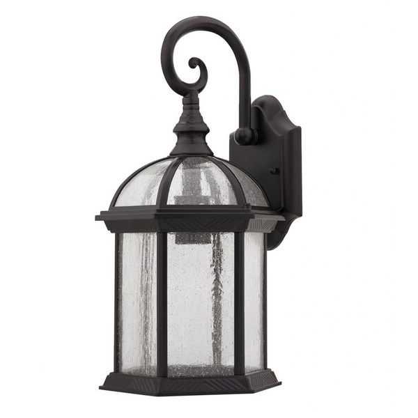 Cowhill Dark Bronze Wall Lanterns Pertaining To Well Liked Shop Chloe Transitional 1 Light Dark Oil Rubbed Bronze (View 13 of 20)