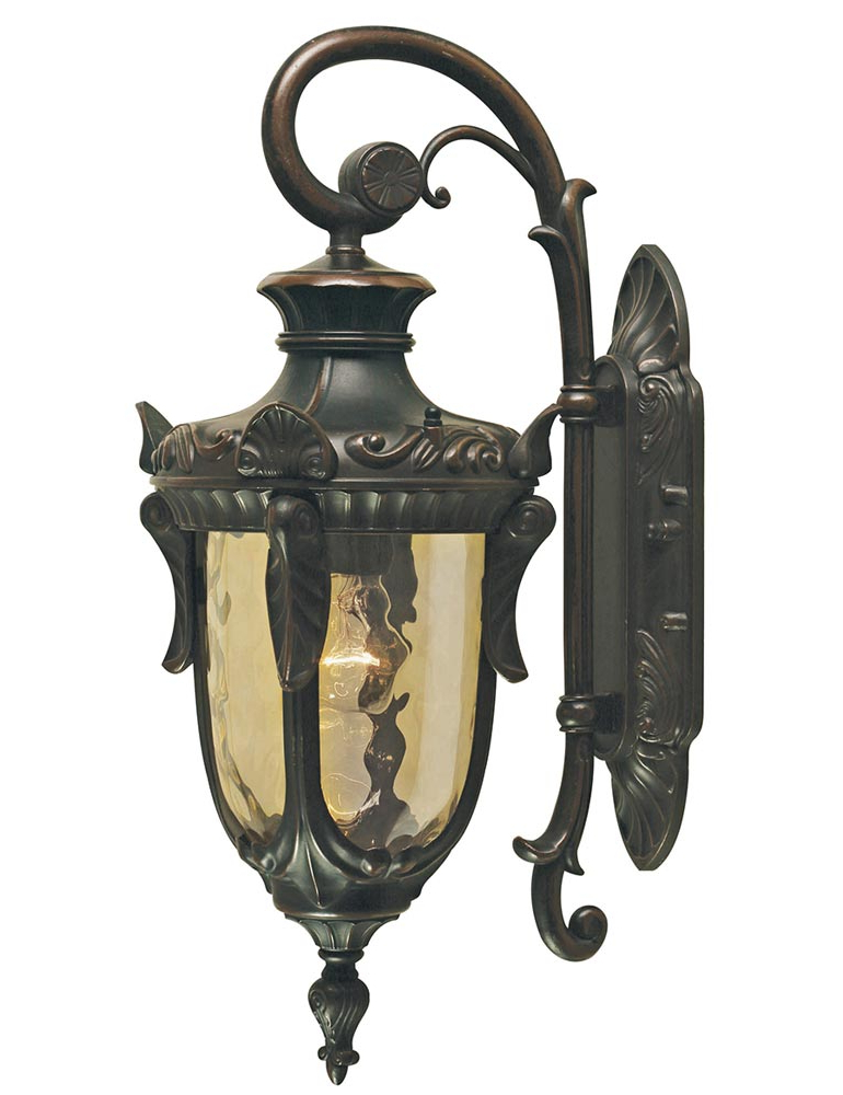 Cowhill Dark Bronze Wall Lanterns Throughout Most Recently Released Elstead Philadelphia 1 Light Medium Outdoor Wall Lantern (View 7 of 20)