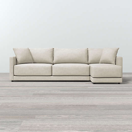 Crate And Barrel Throughout Setoril Modern Sectional Sofa Swith Chaise Woven Linen (View 6 of 20)