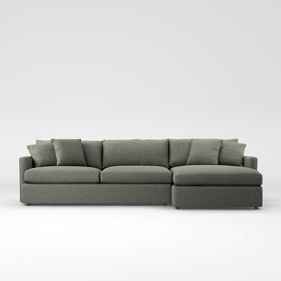 Crate And Regarding Recent Setoril Modern Sectional Sofa Swith Chaise Woven Linen (View 9 of 20)