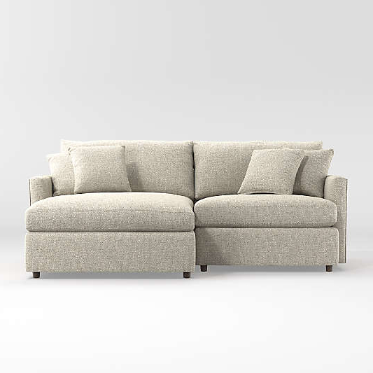 Crate Throughout Preferred 2pc Maddox Right Arm Facing Sectional Sofas With Cuddler Brown (View 3 of 17)