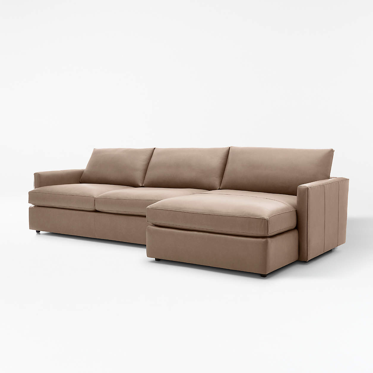 Crate Within Popular 2pc Maddox Right Arm Facing Sectional Sofas With Chaise Brown (View 8 of 20)