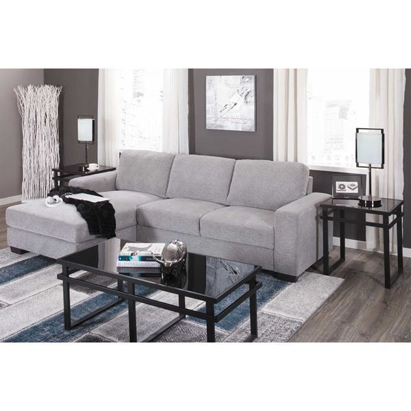 Current 2pc Crowningshield Contemporary Chaise Sofas Light Gray Inside Charleston Light Gray 2 Piece Sectional In  (View 5 of 20)