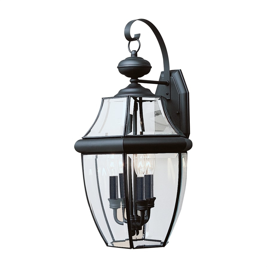 Current Borde Black Outdoor Wall Lanterns Within Sea Gull Lighting Lancaster 23 In H Black Outdoor Wall (View 4 of 20)