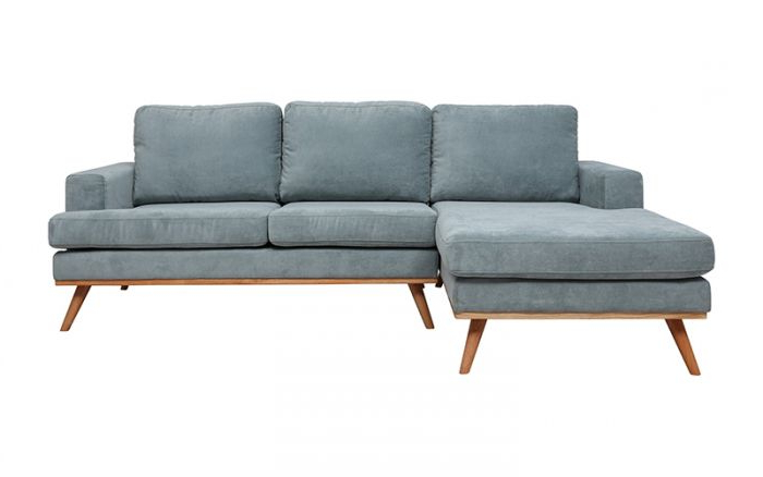 Current Brayson Chaise Sectional Sofas Dusty Blue Inside Cruze 2 Seater + Chaise Lhf In Holly Dusty Green – Fabric (View 5 of 20)