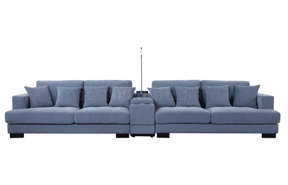 Current Brayson Chaise Sectional Sofas Dusty Blue With Regard To Qiana Sectional Sofa 55235 In Dusty Blue Fabricacme (View 3 of 20)