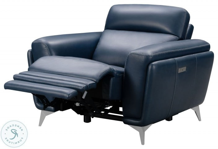 Current Cameron Marco Navy Blue Leather Match Power Reclining Pertaining To Marco Leather Power Reclining Sofas (View 19 of 20)