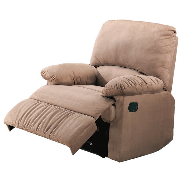 Current Colby Manual Reclining Sofas In Coaster Company Casual Microfiber Recliner Chair (View 3 of 20)
