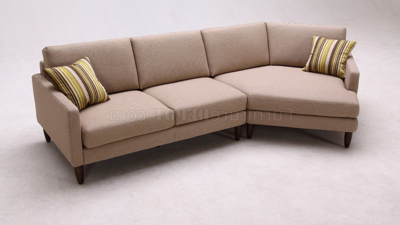 Current Deco Sectional Sofabeverly Hills Furniture In Woven Fabric With Regard To Setoril Modern Sectional Sofa Swith Chaise Woven Linen (View 2 of 20)